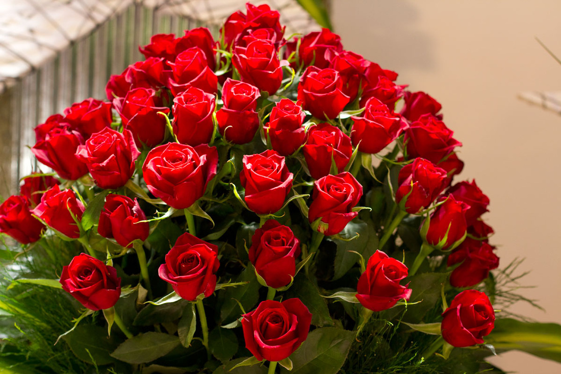 Fabulous red roses Fresh flowers